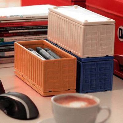 Cargo containers are the ultimate in utilitarian storage decor. Available in sets of two, ny vare i Tinga Tango, ny designbutik og webshop, god til opbevaring