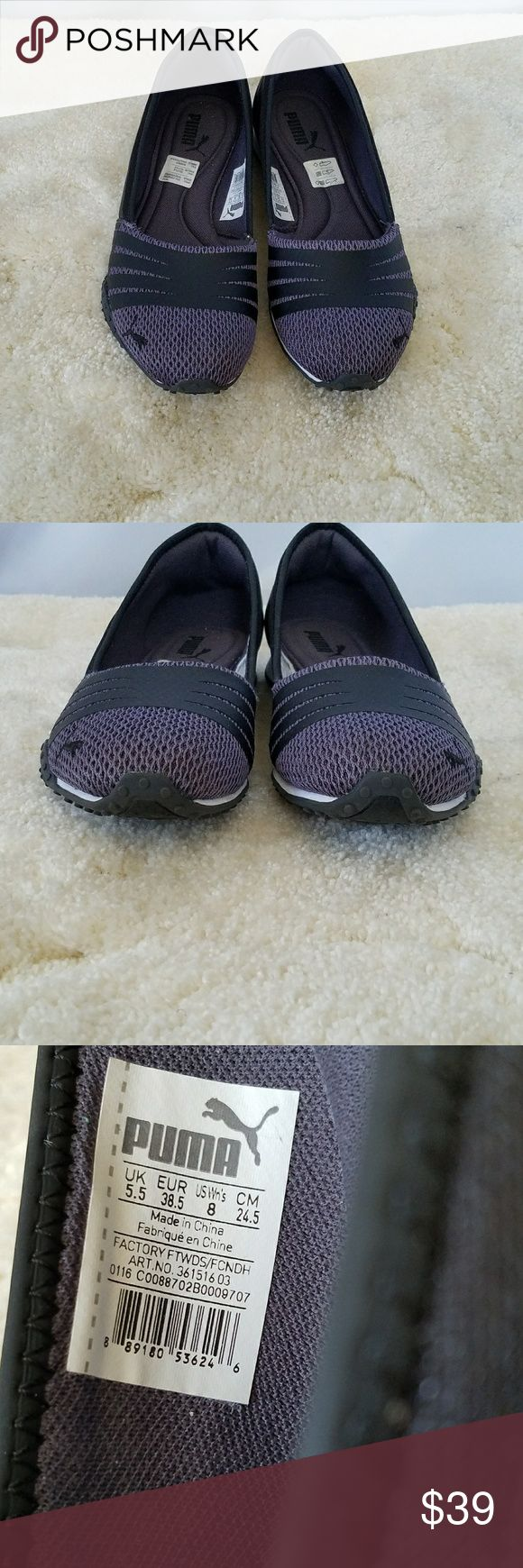 PUMA BLACK & GRAY ATHLETIC BALLET FLATS 8 NWOT PUMA BLACK & GRAY ATHLETIC BALLET FLATS 8. LIKE NEW. On trend for athleisure and beyond! Puma Shoes Flats & Loafers