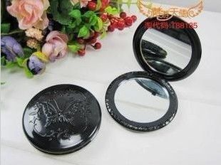 Round butterfly Anna sui compact dual mirror great for diy | chriszcoolstuff - Craft Supplies on ArtFire