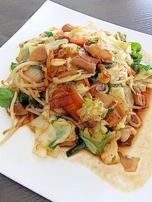 牛ホルモンレシピ・作り方の人気順|簡単料理の楽天レシピ 牛ホルモン入りの野菜炒め