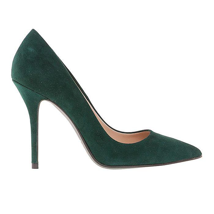 100400-GREEN SUEDE #mourtzi #heels #high_heels #wow #pumps #chic www.mourtzi.com