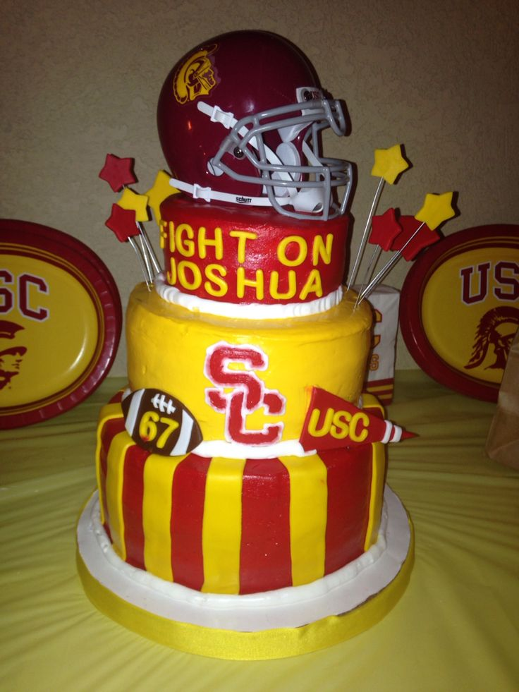 Usc Birthday Cake Images : USC birthday cake!! Cake ideas Pinterest Birthday ...
