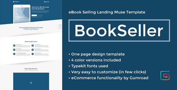 BookSeller - eBook Selling Landing Muse Template - Landing Muse Templates. http://themeforest.net/item/bookseller-ebook-selling-landing-muse-template/full_screen_preview/9114565