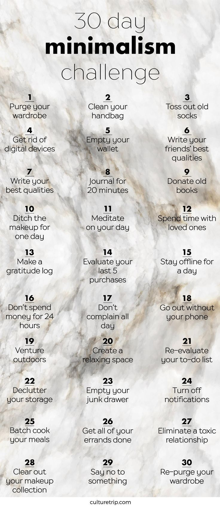 Die 30-Tage-Minimalismus-Herausforderung #30TageM…