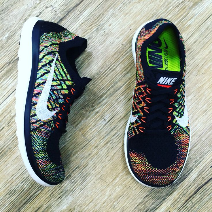 Wmns Nike Free 4.0 Flyknit Multi-Color Rainbow Womens Running Shoes 717076-011