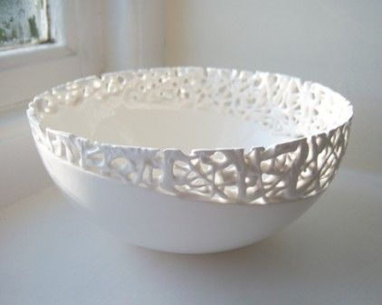 Fragile Fragment Large Bowl from Timea Sido Contemporary Ceramics | Made By Timea Sido | £68.00 | BOUF