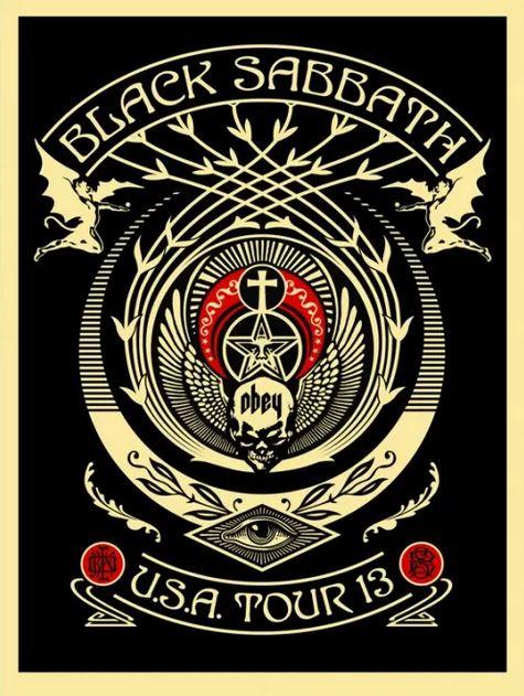 Black Sabbath Tour Posters by Shepard Fairey