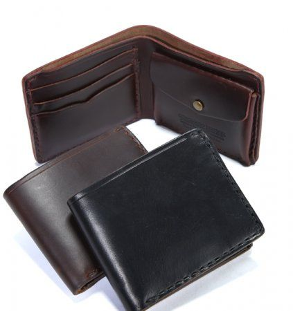 Horween Horsehide # 44 Wallet  Our #Horween® #Horsehide #wallets are thicker than your average wallet, but they will flatten and soften nicely with use. The rich patina that Horween® Horsehide develops is like no other leather. You will feel the quality every day you put the wallet in your hands.