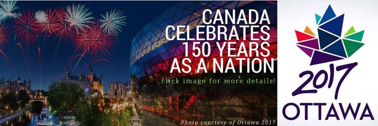 Take a look at highlights of some of the incredible events taking place all year long in Ottawa to celebrate Canada's 150th anniversary of Confederation. For a complete list, view Ottawa Canada's Capital event calendar. You can also find more information about upcoming events on the Ottawa 2017 website. See links below. ENJOY!  Article information & photo courtesy of our friends at OttawaTourism.ca & Ottawa 2017!
