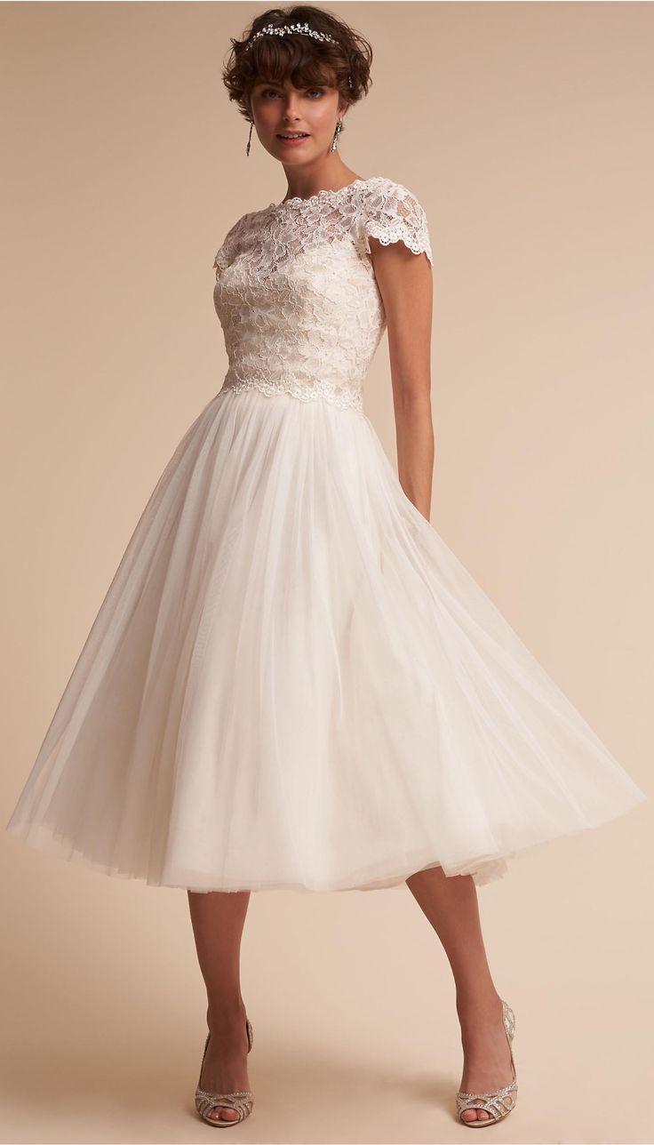 Tea Length Wedding Dress    1950s Wedding Dress
