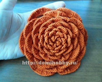 Вязание цветка большого размера