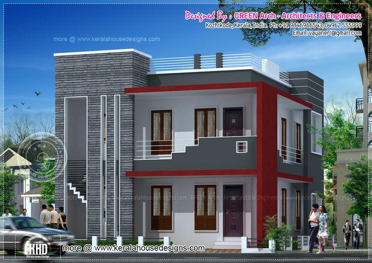 Villa Front Elevation Designs : Villa sq ft g  residence elevations