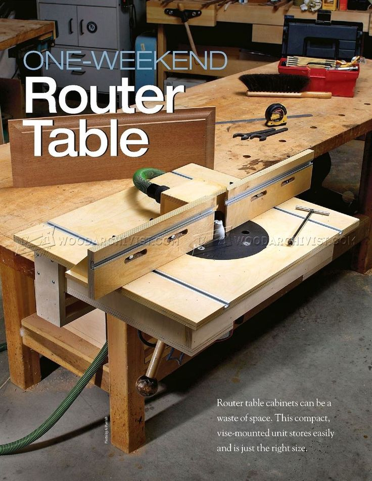 Bench-Mounted Router Table Plans - Router