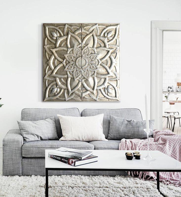 M s de 25 ideas incre bles sobre cuadros decorativos para for Cuadros modernos plateados