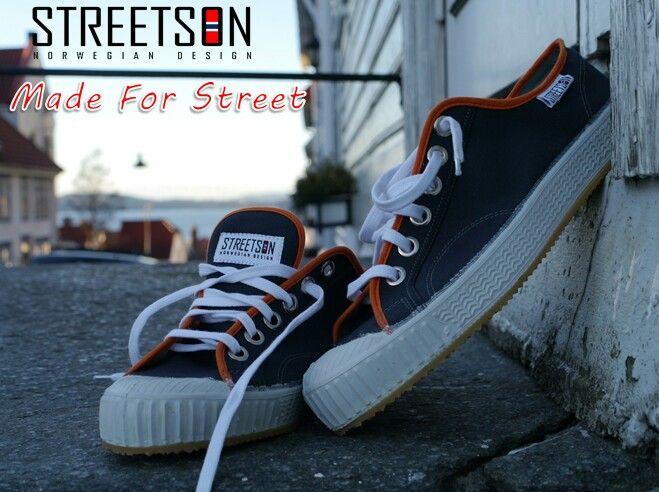 #Streetson Grey-Orange Low Sneakers www.streetson.no