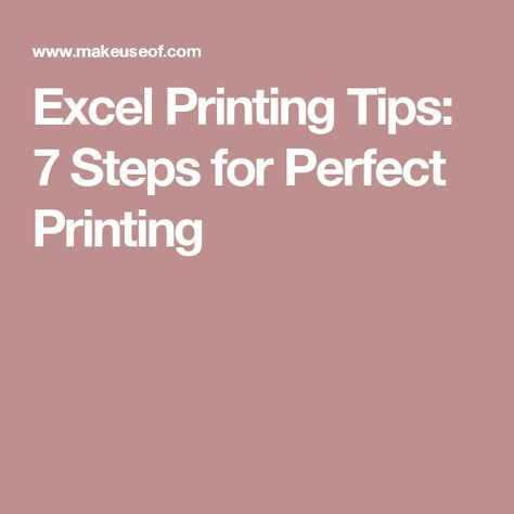 Excel Printing Tips: 7 Steps for Perfect Printing