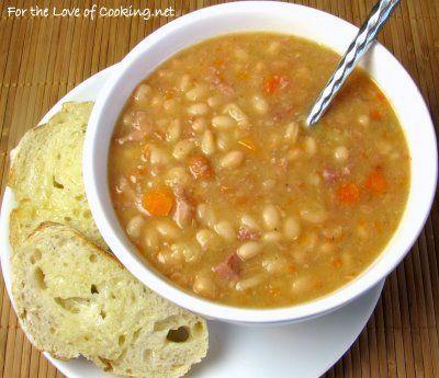 White Bean and Ham Soup | ~ soup ~ | Pinterest