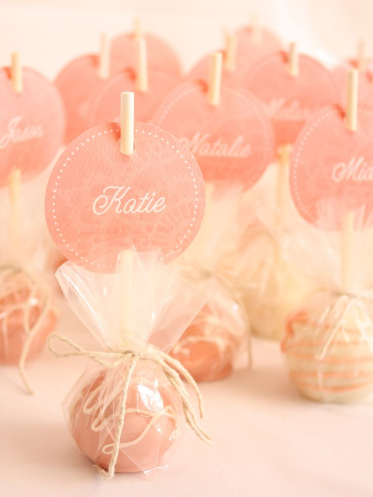 Cute idea for cake pops. Could use them as place cards or party favors.