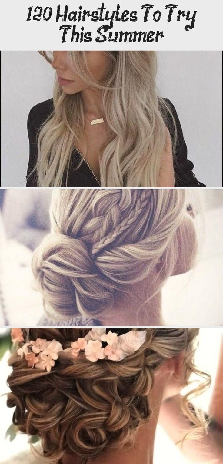 Chic  120 Hairstyles To Try This Summer    #hairideas  #Hairstyle #summerhairstylesForSwimming #summerhairstylesWithBangs #summerhairstylesForBrunettes #Quicksummerhairstyles #summerhairstylesColor