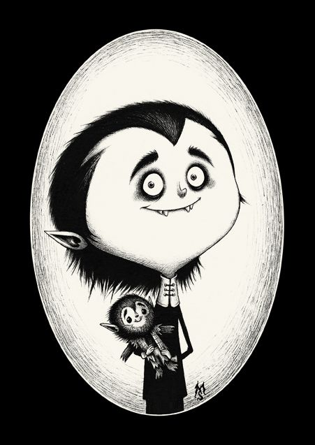 'The Wolfies' (Eddie Munster and his doll, Woof-Woof) by French artist, Seb Mesnard, for the 'Munsters vs Addams' Exhibition at Susanita's Little Gallery.  http://www.susanitaslittlegallery.com/es-ES/Gallery.aspx/Index/munsters_vs_addams__4