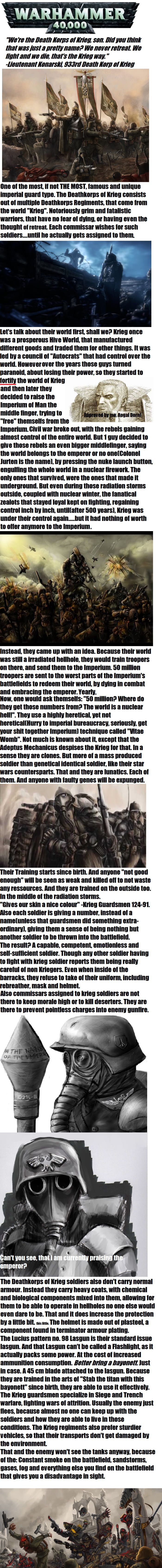 40k lore: Deathkorps of Krieg