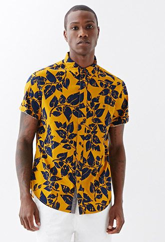 Leaf Print Shirt | 21 MEN | #f21men
