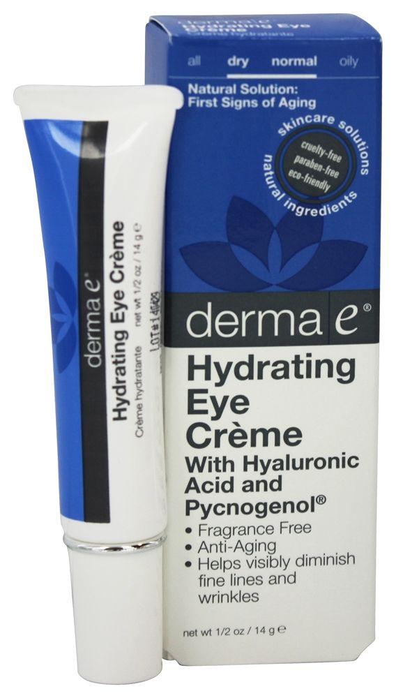 Derma-E - Hydrating Eye Creme With Hyaluronic Acid and Pycogenol - 0.5 oz.