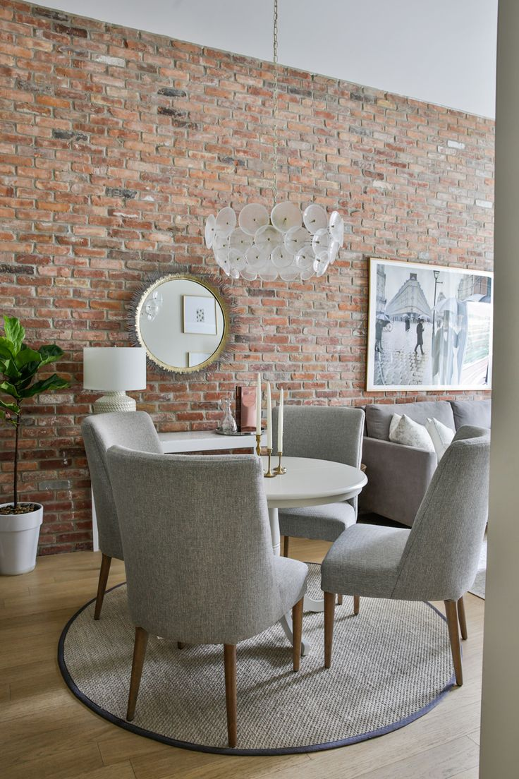 the brick condo furniture. A Classy, Stylish Dining Set Against An Interior Brick Wall The Condo Furniture E