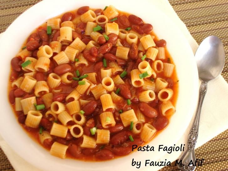 Pasta Fagioli Fauzias Kitchen Fun Pasta Pizza Pies Pinterest T