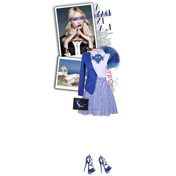 """Those Blues -TB Dress #1"" by thisislettie on Polyvore #cheapandchic #blue #white #polyvore"