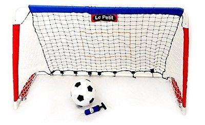 Le Petit Sports - 4ft STEEL Foldable Soccer & Hockey Goal & Rebounder with Easy