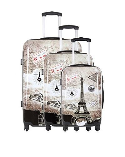 TRAVEL ONE 3er Set Hartschalen Trolley Crosby (grau)