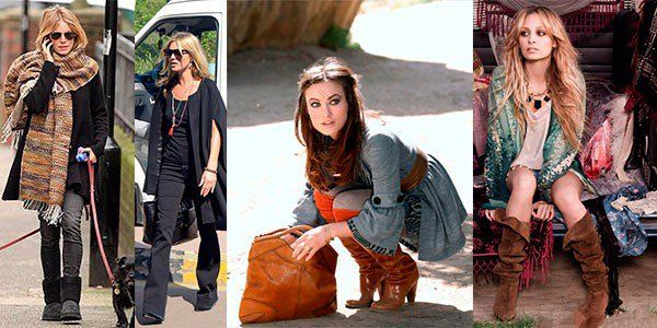 Звезды любят Бохо: Сиена Миллер, Кейт Мосс, Николь Риччи и Оливия Уайд