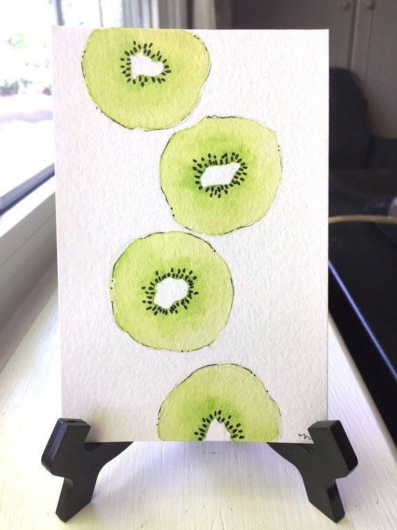 Kiwi-Wanddekor (nur Druck