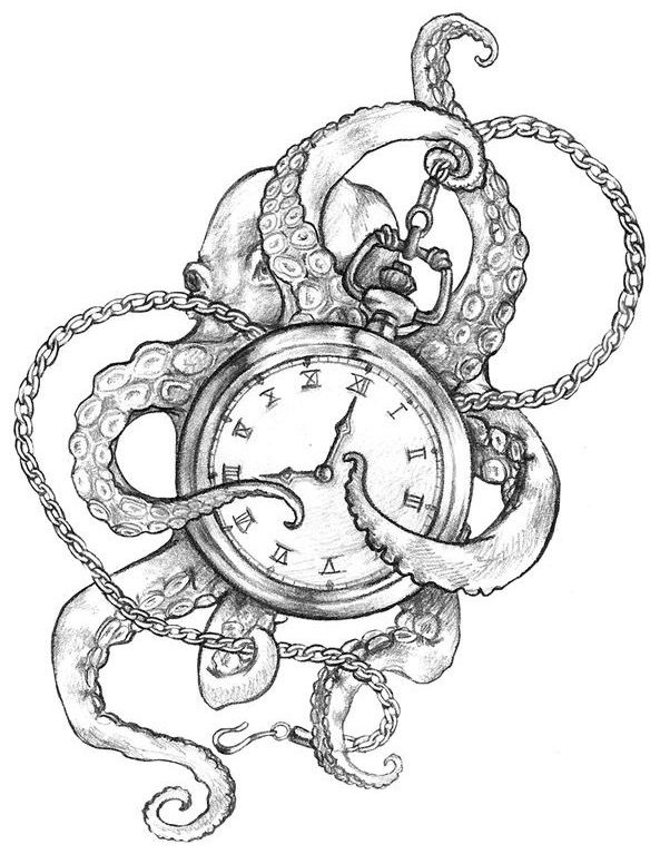 Octopus with clock design... BEAUTIFULL