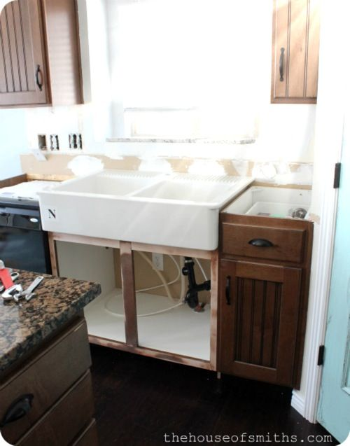 Installing A Farmhouse Sink : How to install farmhouse sink good to know Pinterest