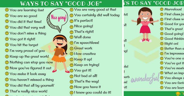 Good Job Synonym: 99 Ways To Say GOOD JOB In English ...