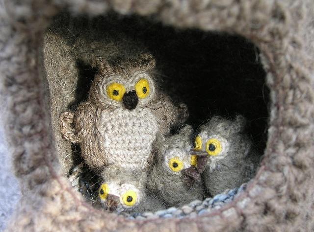 Amigurumi Cute Owl Twins : Les 881 meilleures images ? propos de gufi alluncinetto ...