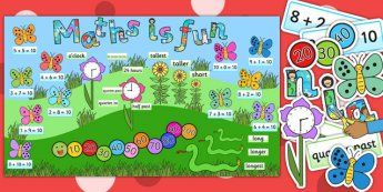 Ready Made Maths is Fun Display Pack - ready made, maths, display - twinkl
