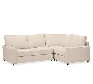 PB Comfort Square Arm Upholstered Left Arm Corner Sectional Box Edge Down Blend Wrapped Cushions Performance Tweed Silver Taupe  sc 1 st  Pinterest : pottery barn pb comfort sectional - Sectionals, Sofas & Couches