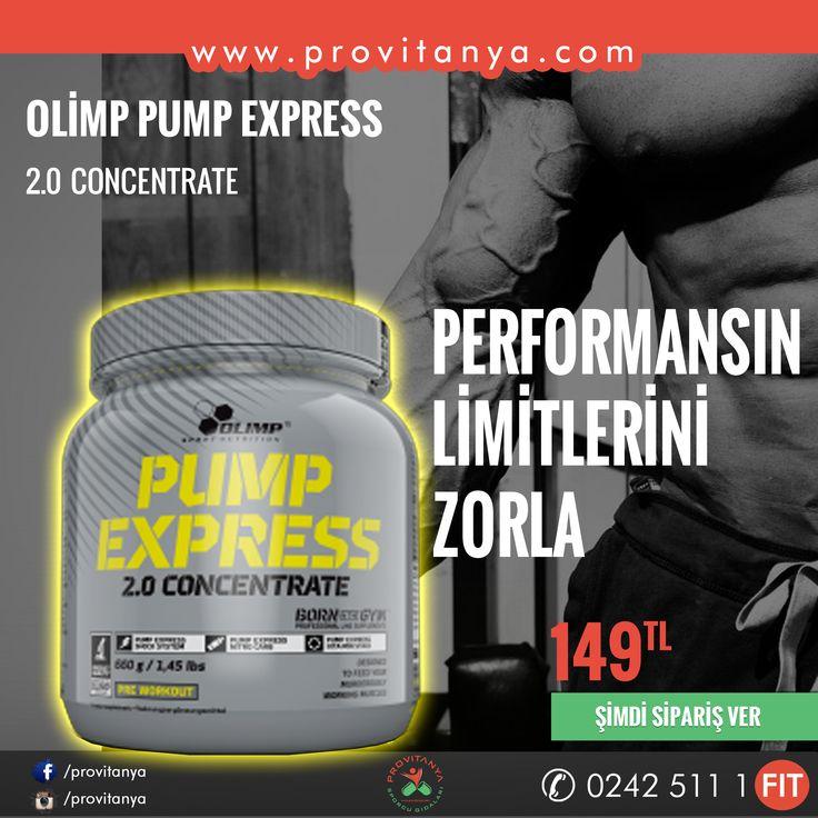 #Olimp #Nutrition dan Performansınızın Limitlerini Zorlatacak ürün  #PumpExpress ® 2.0 #Concentrate stoklarımızda.   www.provitanya.com | Sağlıklı Yaşamın Adresi info@provitanya.com | 02425111348 | 0850 532 1782 | 0533 733 8224 #Olimp #pump #preworkout #supplement #bodybuilding #sport #fitness #performans #muscle #kaskütlesi #provitanya