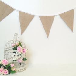 Hessian Bunting! So rustic, so country, so vintage xx