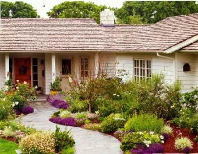 Front Yard Garden Ideas No Grass Ideas | Small front yard ...