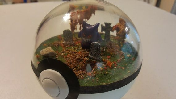 This is a custom made Pokemon diorama with a graveyard theme. The diorama shown in the picture is an example of this finished diorama. More dioramas are being made, order today and receive a coupon for free shipping on your next order!  The Pokemon featured in your diorama will be chosen at random, though we do consider color and Pokemon type when selecting them for each diorama so they fit in. If you are looking for a specific Pokemon contact us to see if it is available!  You may submit…