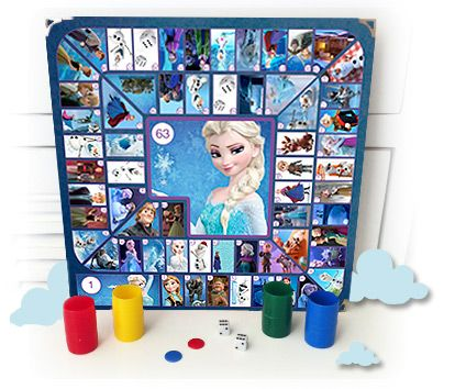 Juego de La Oca versión Frozen. ¡Hazlo tú mismo! http://www.planesparapeques.com/2014/12/12/juego-de-la-oca-de-frozen/