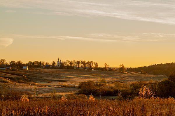 Morning view to church in Pokrovskoe 1