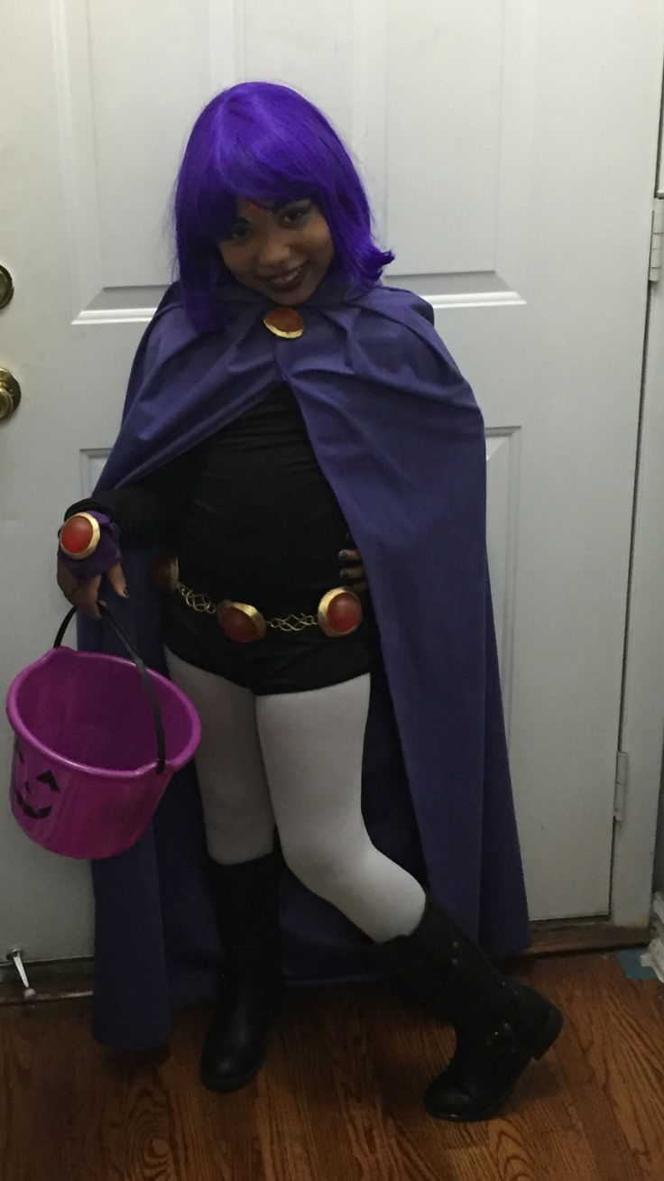 My Daughters Teen Titans Go Raven Costume - Had To Buy Or -9764