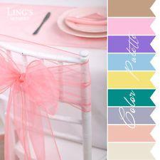 """8"""" x 108"""" Wedding Party Banquet Organza Chair Cover Sash Bow Reception Decor"""