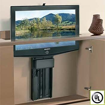 Wood Technology Whisper-Ride 750 Flat Panel TV Lift – Accomodates 37″ – 48″ TV's (Black)