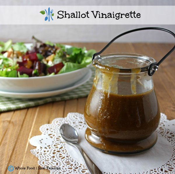 Pour this Roasted Shallot Vinaigrette all over everything in your fridge. It is really that good. A clean eating, whole food recipe. No processed ingredients.
